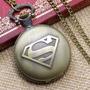 Subasta Precioso Reloj Elegante Superman Con Cadena Nuevo