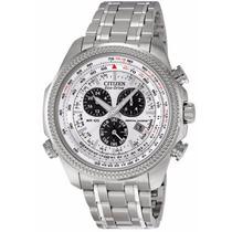 Reloj Citizen Eco-drive Atómico Crono Acero Bl5400-52a