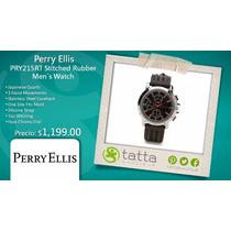 Reloj Perry Ellis Negro Para Hombre Original Nuevo Pry215rt