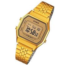 Reloj Casio La680 Vintage Dama Dorado Luz Acero Original