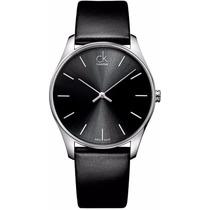 Reloj Calvin Klein Classic Análogo Piel Negra K4d211c1