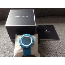 Reloj Nautica Digital Color Azul, Nuevo Y Original! Súper!