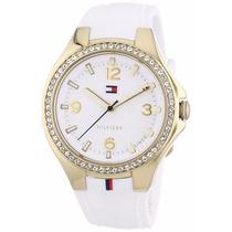 Reloj Tommy Hilfiger Blanco 1781372 Envío Gratis Dorado