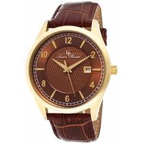 Reloj Lucien Piccard Weisshorn Dorado Piel Café 11581-yg-04
