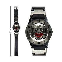 Reloj De Mano Tokyo Ghoul Kaneki Escudo Con Correa Delgada!