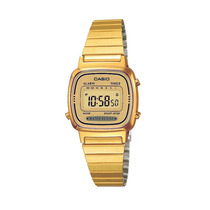 Reloj Casio Dama La670 Dorado Extensible Metal Crono Tempori