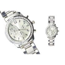 Lote De 5 Relojes Estilo Geneva De Metal Con Cristales