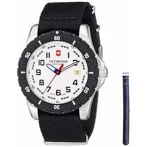 Reloj Victorinox Acero Dos Correas Negro Blanco 241676.1