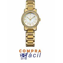 Reloj Tommy 1781477 Bañado En Iones Oro Dama Diametro 36mm