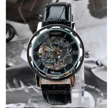 Elegante* Reloj Winner Skeleton De Cuerda Mas Regalo Gratis!
