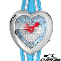 Reloj Chronotech Prisma, Dama Acero Inoxidable Y Piel 5 Css