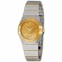 Reloj Omega Constellation Champagne Mujer 12320276008001
