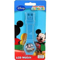 Disney Lcd Azul Casa De Mickey Mouse Reloj Digital Para Niño