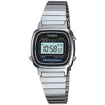 Reloj Casio Dama La670 Plata Extensible Metal Crono Tempori