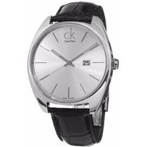 Reloj Calvin Klein Exchange Análogo Piel Negra K2f21120