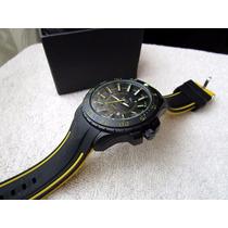 Excelente Reloj Puma Negro Grande Fechador Subasta 1 Peso