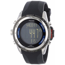 Reloj Seiko Pulsar Tech Gear Digital Plastico Negro Ps7001