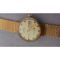 Reloj Original Mido Commander Automatico Chapa Oro Ocean Sta