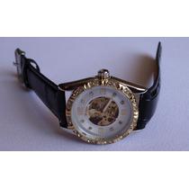 Precioso Reloj Skeleton Automatico 100% Original Adiamantado