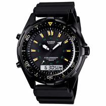 Reloj Casio Mariner Amw-360b-1a1v Pulido Carbonizado.