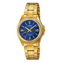 Reloj Casio Estandar Ltp-e115gd-2 Dorado Analogo Día Y Fecha