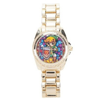 The Legend Of Zelda Exclusivo Reloj Con Cristales Link Dama
