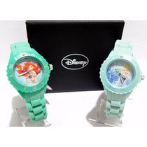 Mca.disney Set De 2 Relojes Ariel Y Cenicienta Princesas Nvo