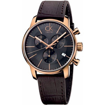 Reloj Calvin Klein City Cronógrafo Piel Café Negro K2g276g3