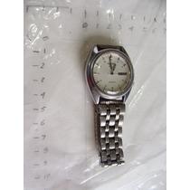 Reloj Seiko 5 , Caratula Blanca Muy Bonito , Mide 4cm De Dia