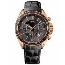 Reloj Hugo Boss Driver Sport Cronógrafo Piel Negra 1513092