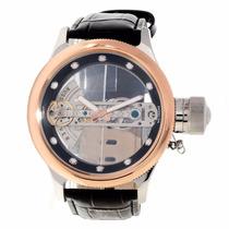 Reloj Invicta Russian Diver Automático Esqueleto Piel 14214