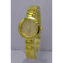 Reloj Mujer Calvin Klein Ck Oro Libelula Excelente Regalo
