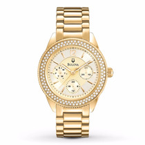 Reloj Bulova Bracalete A. Inoxidable Color Oro 97n102