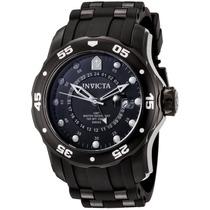 Reloj Invicta Pro Diver Cronógrafo Acero Negro, Caucho 6996
