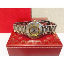 Cartier Siglo 21 Dama Oro Acero Impecable 9cito Model Actual