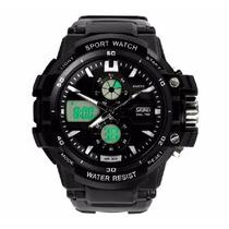 Skmei Watch Sport Resistente Color Negro Y Plateado