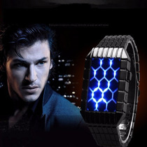 Reloj Tipo Tokioflash Led Azul Digital Binario Moderno Luz