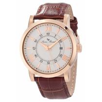 Reloj Lucien Piccard Stockhorn Dorado Piel Café 11577-rg-02s