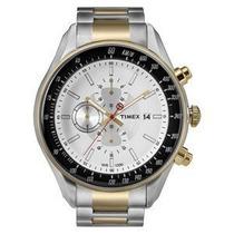 Reloj Timex Plateado Con Dorado