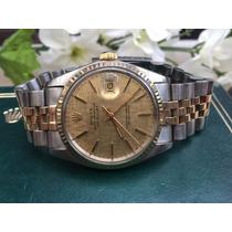 Rolex Datejust Acero Oro 16013 Caratula Lamina Con Caja Vbf