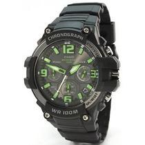 Reloj Casio Mcw-100h Analogo Fechador Crono Wr100m