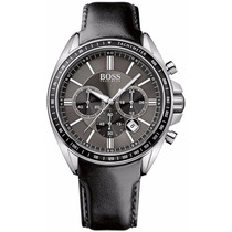 Reloj Hugo Boss Driver Sport Cronógrafo Piel Negra 1513085