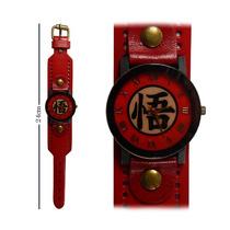 Reloj De Mano Dragon Ball Z Emblema Con Correa Gruesa