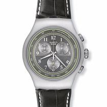 Reloj Swatch Irony Chronografo Mr Grey Yos424 Nuevo Diaphane