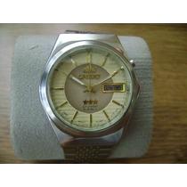 Reloj Orient Automático 21 Joyas.... Dial En Tonos Oro.