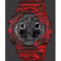 Reloj Casio G Shock Camouflage Rojo Ga100cm