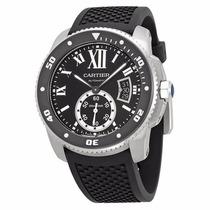 Reloj Cartier Calibre Automático Negro Caucho Negro W7100056