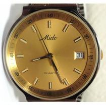 Reloj Mido Cuarzo Oro Acero
