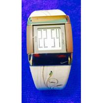 Nike Reloj Dama Wc0026 Piel Con Caucho Y Acero Láser Decorad