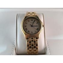 Reloj Cartier Cougar Large Size De Oro Amarillo 18k Quartz
